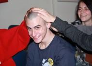 Radio/television/film major Joe Passalacqua grabs plenty of attention with his new bald head.